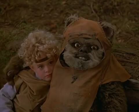star wars ewoks battle for endor wicket creepy