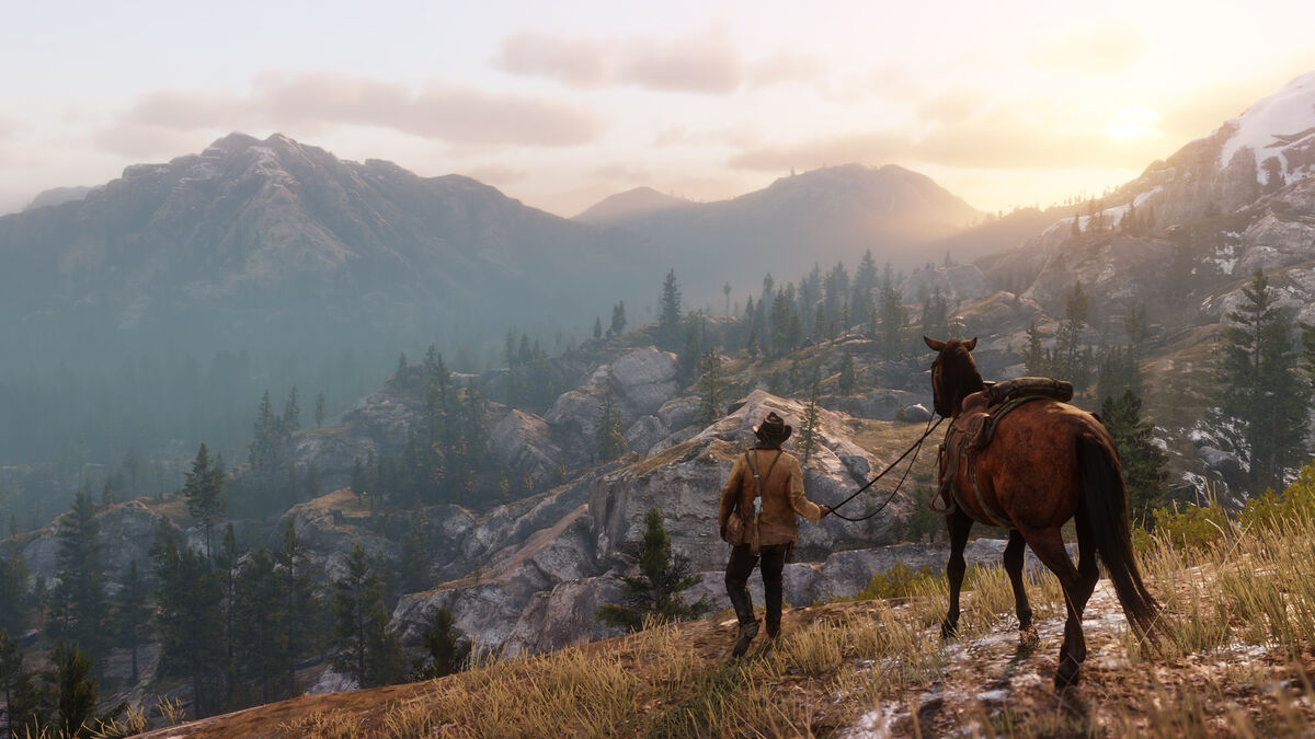 Enjoying the scenery in Red Dead Redemption 2