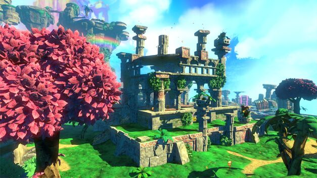Yooka-Laylee's beautiful Tribalstack Tropics.