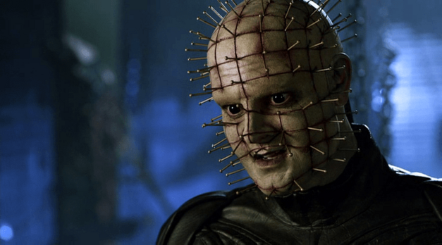 In this sequel we learn that Pinhead is allergic to shellfish.
