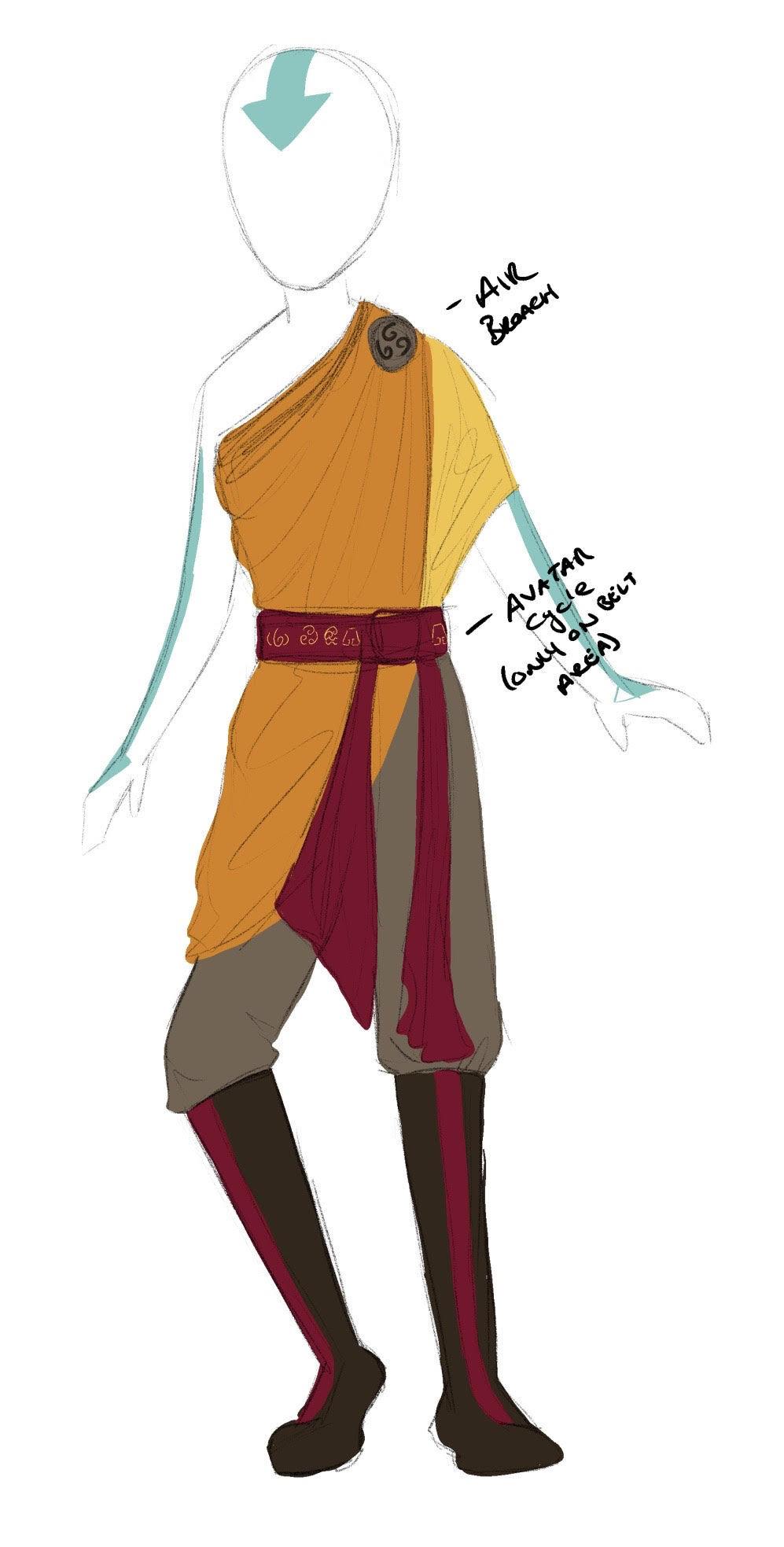 Avatar Aang Costume Design