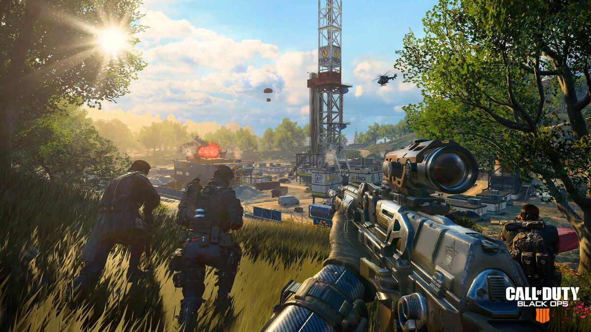 A quad moves in on a base in Blackout.