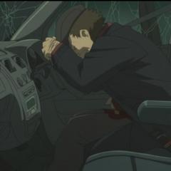 Huang just before he dies.
