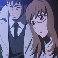 Yōko and Genma watch as the progress of the anti-Contractor devices.