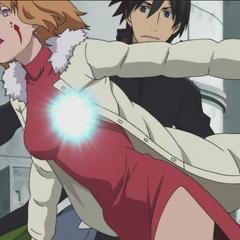 Hei is saved by Shinoda Chiaki.