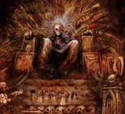 Emperor golden throne
