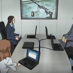 The team discuss <a href=