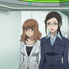 Yōko and Misaki pass through security on way to visit Izanami.