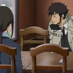 Genma meets with Misaki to discuss Section 3.