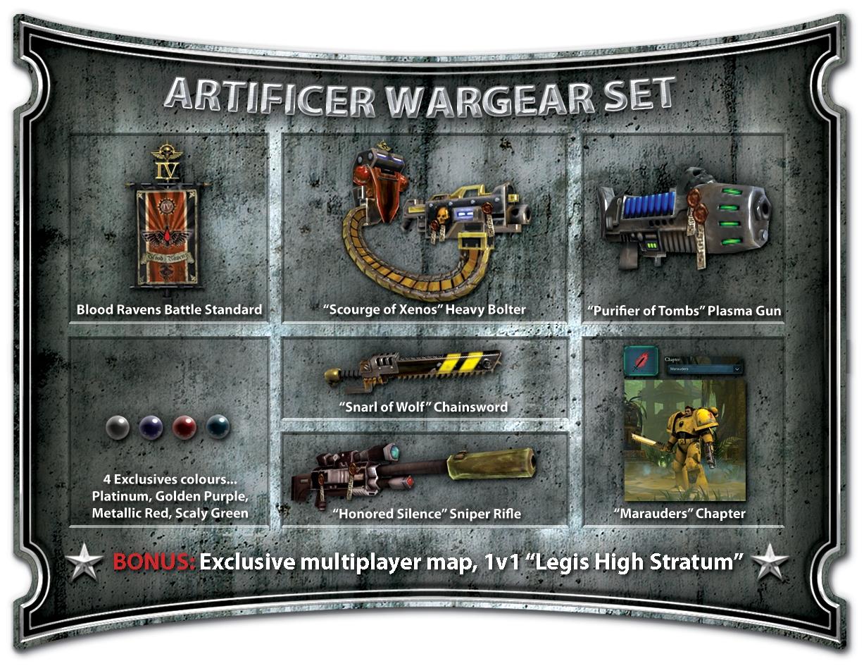 artificer wargear set dawn of war wiki fandom powered by wikia artificer wargear set