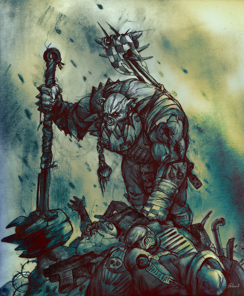 image ork nob art jpg dawn of war wiki fandom powered by wikia full resolution