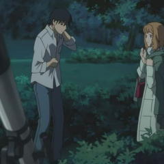 Shinoda Chiaki and Hei meet in the park.
