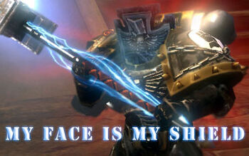 My Face Is My Shield! Banner