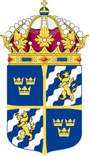 Coat of Arms of Sweden Middle Shield