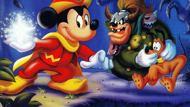 Box art from The Magical Quest Starring Mickey Mouse.