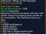 Daemonic Wings of the Newbae