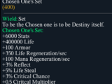 Chosen One's Set