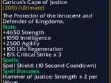 Garicus's Cape of Justice