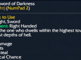Infernal Sword of Darkness