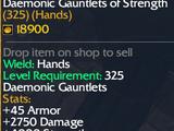 Daemonic Gauntlets of Strength