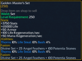 Golden Master's Set