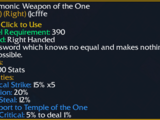 Daemonic Weapon of the One