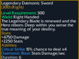 Legendary Daemonic Sword