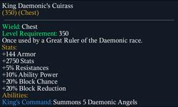 KingDaemonic'sCuirass