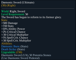 Daemonic Sword (Ultimate)