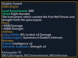 Diablos Sword