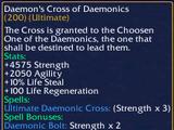 Daemon's Cross of Daemonics