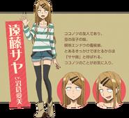Dagashi Kashi S2 Character Design - Saya