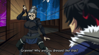 Otomi in a ninja outfit