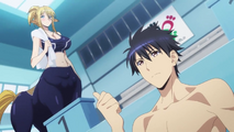 Monster Musume OVA Centorea in swimsuit and Kimhino