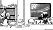 Minotaurs pans satyresses watching TV