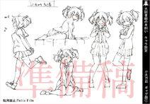 Daitoshokan-No-Hitsujikai-Character-Design-Nagi-Kodachi-4