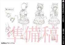 Daitoshokan-No-Hitsujikai-Character-Design-Senri-Misono-Neko
