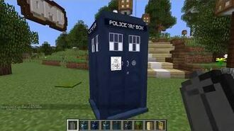 How to make TARDIS in Minecraft - Dalek Mod crafting Doctor Who