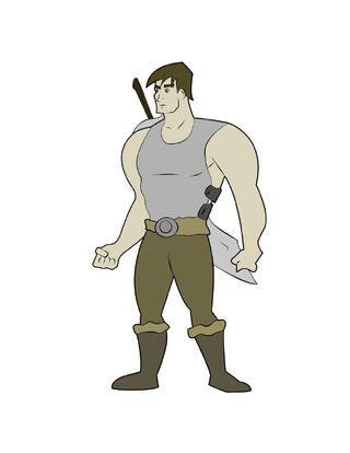 First Lieutenant Raman the Berserker Ramancartoon