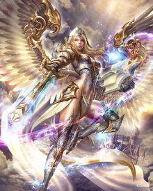 Domi as angel fighting