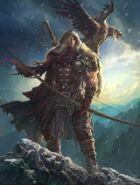 640x844 11052 Winter is coming 2d illustration winter hunter archer warrior fantasy picture image digital art