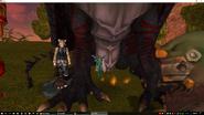 Huge dragon small dryad