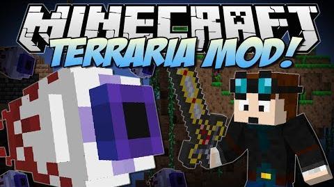 Minecraft TERRARIA MOD! (Eye of Cthulhu, Excaliber, Obsidian Skulls & More!) Mod Showcase