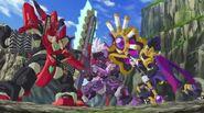 Hakai OZ and Nightmare vs Proto Zenon
