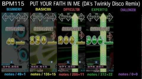 DDR X3 PUT YOUR FAITH IN ME (DA's Twinkly Disco Remix) - SINGLE