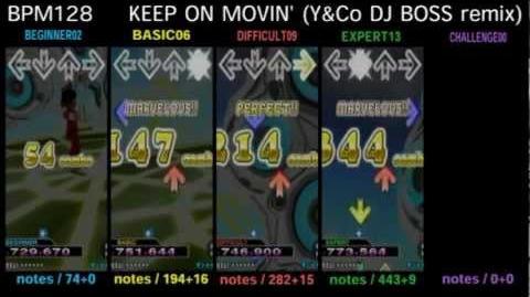 DDR X3 KEEP ON MOVIN' (Y&Co DJ BOSS remix) - SINGLE