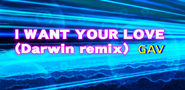 I WANT YOUR LOVE (Darwin remix)