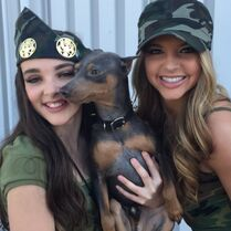 Kendall shooting her video - with Ryleigh and IG rabbithedog