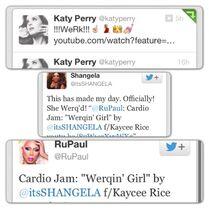 Kaycee Rice - Twitter - Katy Perry - Shangela Laquifa - Ru Paul