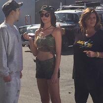 Charlotte Vertes on set of Kendalls video - posted 2015-02-02